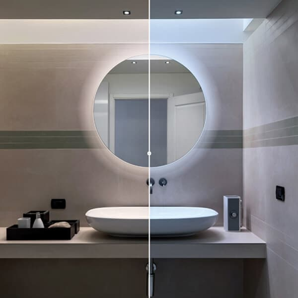 theme mirror with backlight